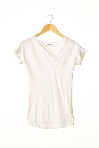 T-shirt manches courtes blanc BRUNELLO CUCINELLI pour femme