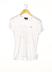 T-shirt manches courtes blanc ARMANI pour femme seconde vue