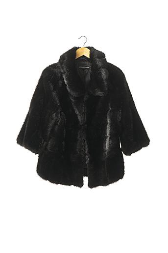 Manteau court noir ADRIENNE LANDAU pour femme
