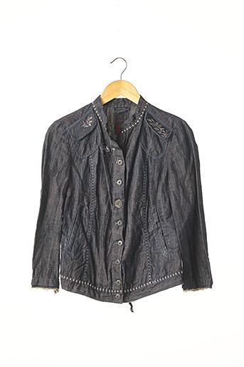 Veste en jean bleu MARITHE & FRANCOIS GIRBAUD pour femme