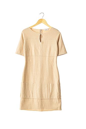 Robe mi-longue beige FRANCK NAMANI pour femme