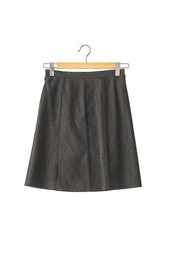 Jupe mi-longue gris FRANCK NAMANI pour femme