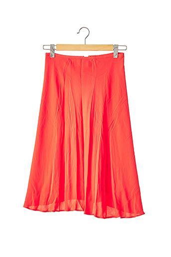Jupe mi-longue orange JEROME L'HUILLIER pour femme