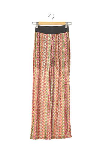 Pantalon casual rose SANS MARQUE pour femme