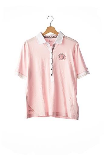Polo manches courtes rose BASLER pour femme