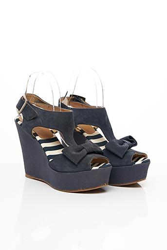 Sandales/Nu pieds bleu CLAUDIE PIERLOT pour femme