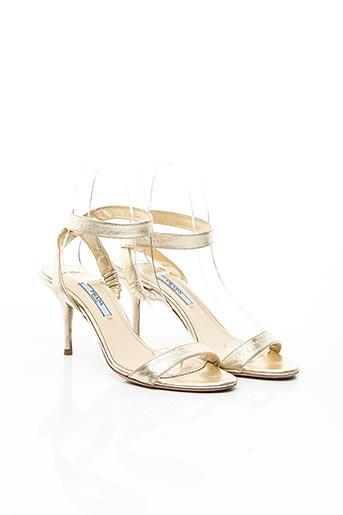 Sandales/Nu pieds jaune PRADA pour femme