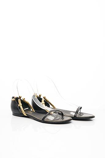 Sandales/Nu pieds noir CHANEL pour femme