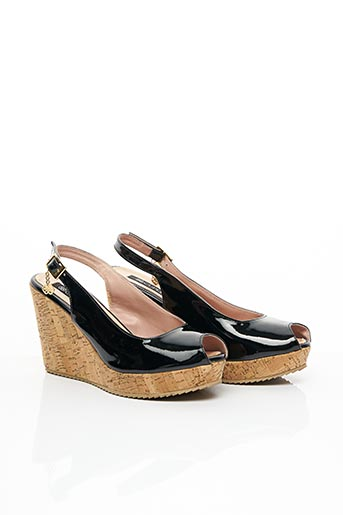 Sandales/Nu pieds noir CUPLÉ pour femme