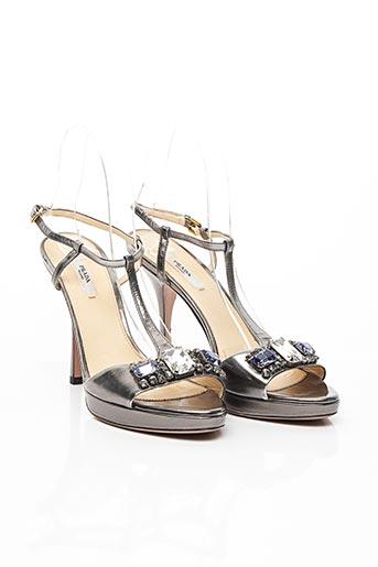 Sandales/Nu pieds gris PRADA pour femme