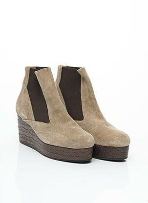 Bottines/Boots beige CASTANER pour femme