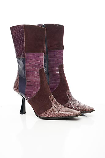 Bottines/Boots rose AVC pour femme
