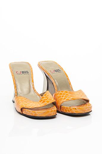 Mules/Sabots orange CHARLES JOURDAN pour femme