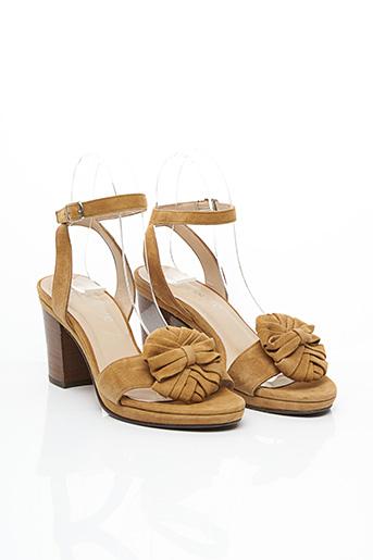 Sandales/Nu pieds beige ACCESSOIRE DIFFUSION pour femme