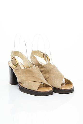 Sandales/Nu pieds beige SONIA RYKIEL pour femme