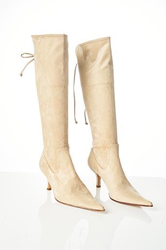 Bottes beige FLORENCE KOOIJMAN pour femme