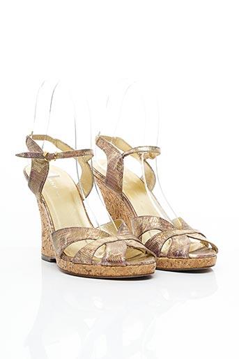 Sandales/Nu pieds beige DKNY pour femme