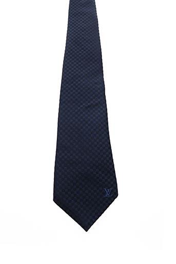 Cravate bleu YVES SAINT LAURENT pour homme