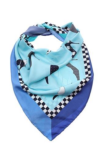 Foulard bleu CHARLES JOURDAN pour femme