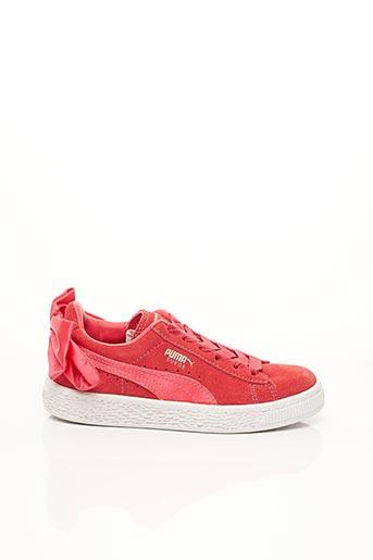 Baskets rouge PUMA pour fille