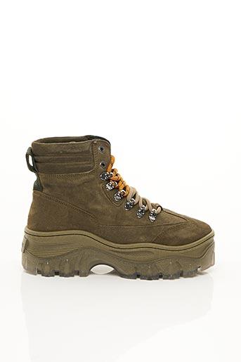 Bottines/Boots vert BRONX pour femme