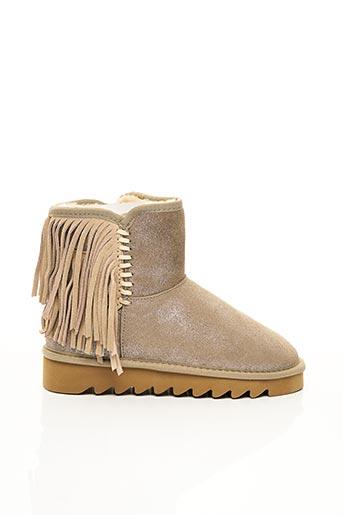 Bottines/Boots beige COLORS BY COMPLICES pour femme
