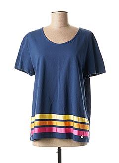 T-shirt manches courtes bleu CONCRETO pour femme