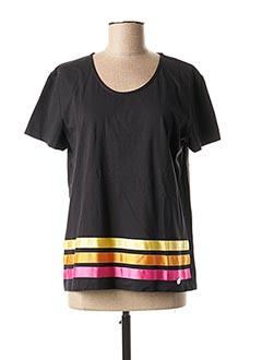 T-shirt manches courtes noir CONCRETO pour femme