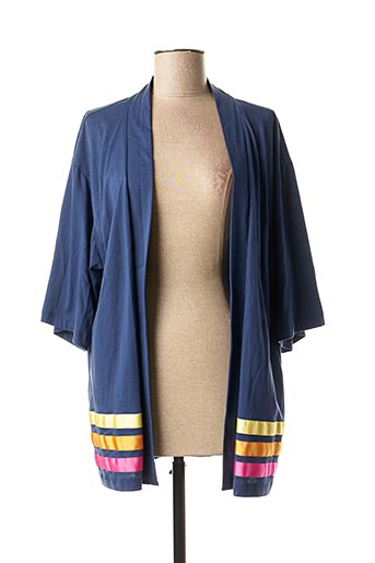 Gilet manches longues bleu CONCRETO pour femme