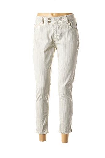 Pantalon casual blanc DEFINE pour femme