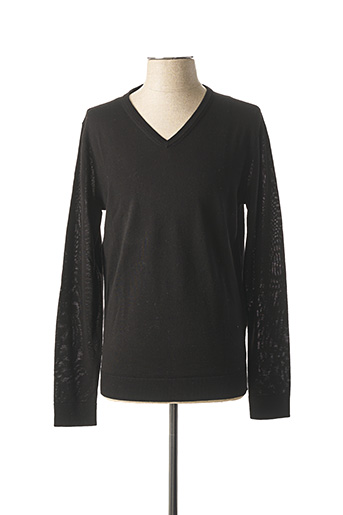 Pull col V noir SELECTED pour homme