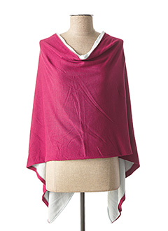 Poncho rose CAPUCCINO pour femme