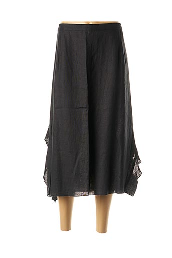 Jupe mi-longue noir BRIGITTE SAGET pour femme