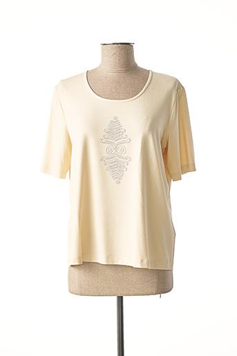T-shirt manches courtes beige EUGEN KLEIN pour femme