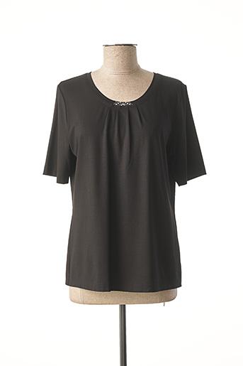 T-shirt manches courtes noir EUGEN KLEIN pour femme