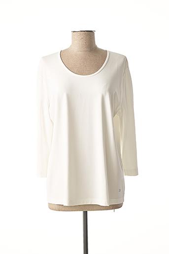 T-shirt manches longues blanc EUGEN KLEIN pour femme