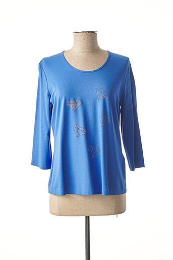 T-shirt manches longues bleu EUGEN KLEIN pour femme