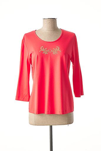 T-shirt manches longues rouge EUGEN KLEIN pour femme