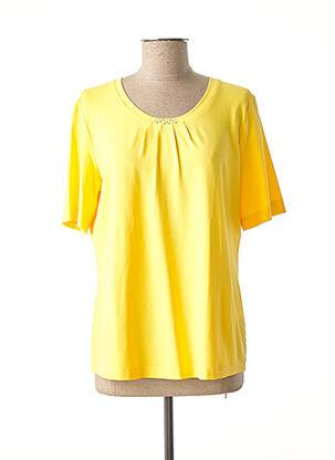 T-shirt manches courtes jaune EUGEN KLEIN pour femme