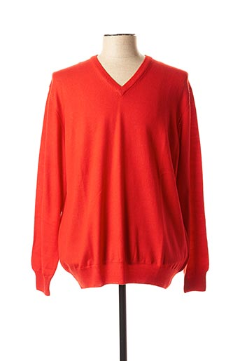 Pull col V rouge CIPRIANI pour homme