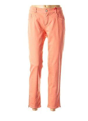 Pantalon casual orange ASCARI pour femme