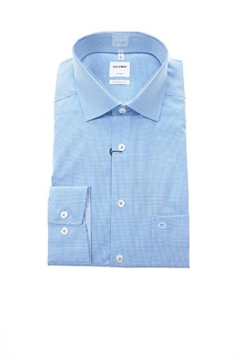 Chemise manches longues bleu OLYMP pour homme