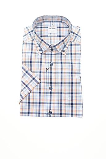 Chemise manches courtes orange OLYMP pour homme