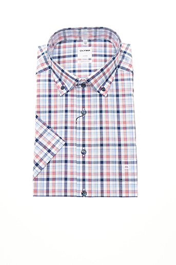 Chemise manches courtes rouge OLYMP pour homme