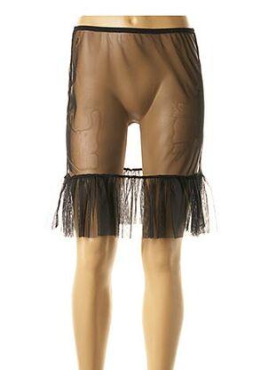 Jupon /Fond de robe noir MALOKA pour femme