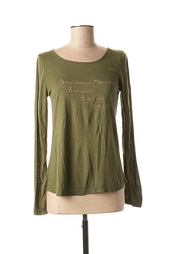 T-shirt manches longues vert BANANA MOON pour femme