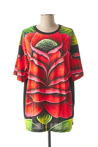 T-shirt manches courtes rouge DESIGUAL pour femme