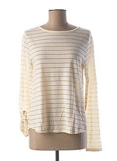 T-shirt manches longues beige LE BOUDOIR D'EDOUARD pour femme