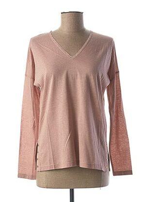 T-shirt manches longues rose LE BOUDOIR D'EDOUARD pour femme