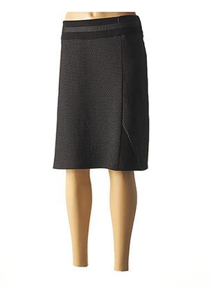 Jupe mi-longue noir CHRISTINE LAURE pour femme
